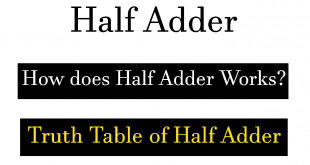 how half adder works